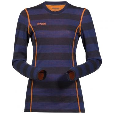 Женская термофутболка Akeleie Lady Shirt 1865 цвет NightBlue Striped/Pumpkin