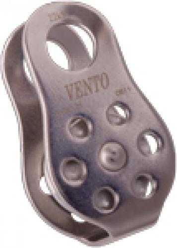 Блок-ролик одинарный Спасатель Про V2 (н/ж сталь, с подшипником) (Vento)