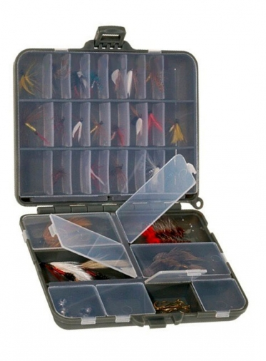 Коробка Plano 1070-00 2-х сторонняя для маленьких джиг-головок и мушек,11-32 секции