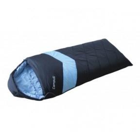 Спальный мешок Campus ADVENTURE 300SQ L-zip от -8 град.(одеяло) (цвет black700/lt.blue802)