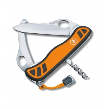 Нож охотника с фиксатором лезвия HUNTER XS, 111 мм, оранжевый с черным