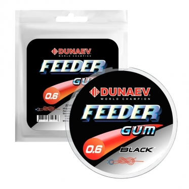 Амортизатор для фидерной оснастки Dunaev Feeder Gum Black 0.6 mm