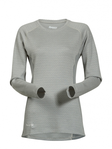 Женская термофутболка Snoull Lady Shirt цвет Aluminium/Solid Light Grey/White