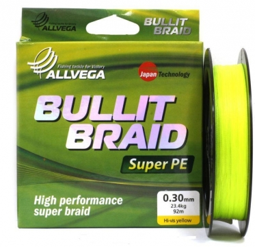 Шнур Allvega Bullit Braid Hi-Vis Yellow 135м