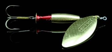 Блесна MEPPS Aglia Long Heavy №1 Gold -Gold/Red