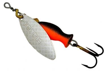 Блесна MEPPS Aglia Long Heavy №1+ Silver-Black/Orange