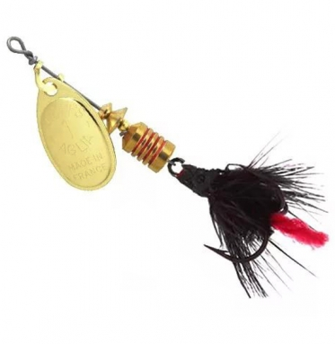 Блесна Mepps AGLIA MOUCHE, № 00 цв. золото / черная муха