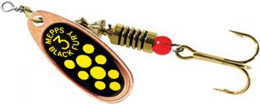 Блесна Mepps Comet Black Fury № 0 цв. copper yellow dots