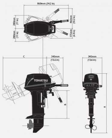Лодочный мотор Tohatsu M 18 S