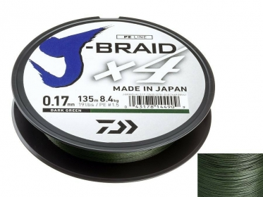 Шнур Daiwa J-Braid X4 Dark Green