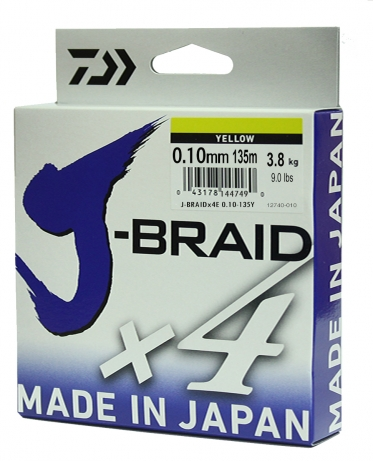 Шнур Daiwa J-Braid X4 Yellow