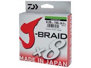 Шнур Daiwa J-Braid X8 Chartreuse