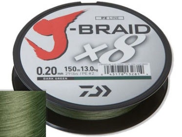 Шнур Daiwa J-Braid X8 Dark Green