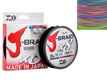 Шнур Daiwa J-Braid X8 Multicolor