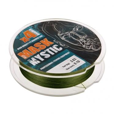Плетеный шнур AKKOI Mask MYSTIC X4-100 Deep-green