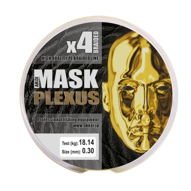 Плетеный шнур AKKOI Mask Plexus X4-150 Yellow